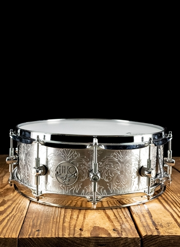 "HHG 5""x14"" Engraved Steel Snare Drum"