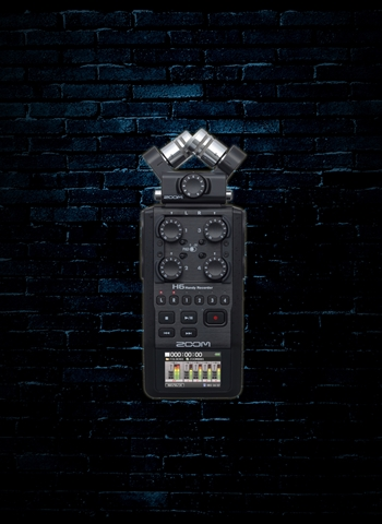 Zoom H6 All Black - Portable Handy Recorder