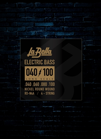 LaBella RX-N4A RX Nickel Bass Strings - Long Scale (40-100)