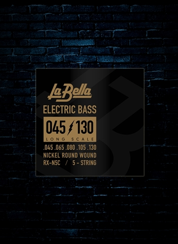 LaBella RX-N5C RX Nickel Bass Strings - 5-String Long Scale (45-130)