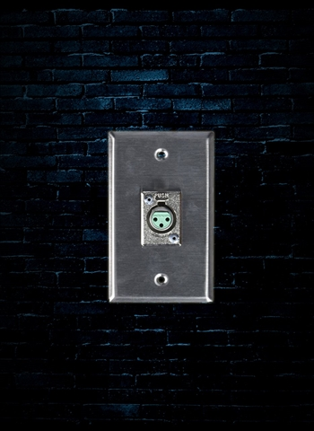 Rapco SP-1DFS - XLR Wall Plate with 1 Switchcraft D3F