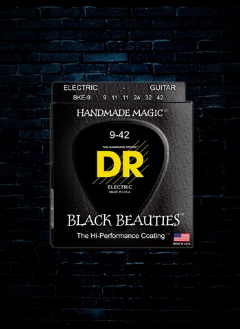 DR BKE-9 - K3 Black Beauties Electric Strings - Light (9-42)