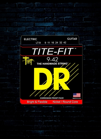 DR LT-9 Tite-Fit Nickel Plated Electric Strings - Lite (9-42)