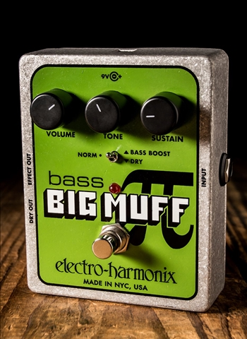 Electro-Harmonix Bass Big Muff Pi Distortion/Sustainer Pedal