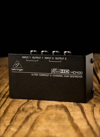 Behringer HD400 MicroHD 2-Channel Hum Destroyer